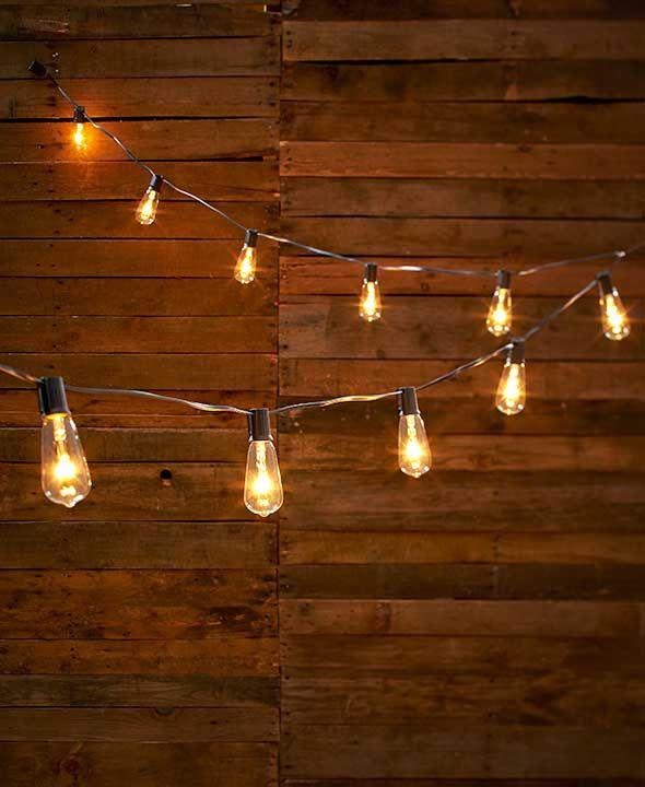 "S/10 Edison Glass Bulb LED String Lights: Leading legthen:16"" ; LED Space:6"""