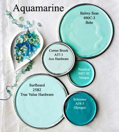 Aquamarine paint colors via BHG.com
