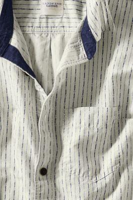 Men's Coastal Linen Cotton Shirt from Lands' End Canvas