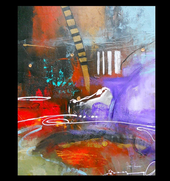 Colorful Large Original Modern Abstract Painting by SavarinoArt, $695.00