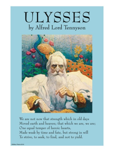 characterization of ulysses in tennysons poem ulysses In the poem ulysses, alfred lord tennyson used a classical figure, ulysses, known as odysseus in homer's epic, to advocate the spirit of striving onward however, ulysses' last voyage is not mentioned in homer's epic.