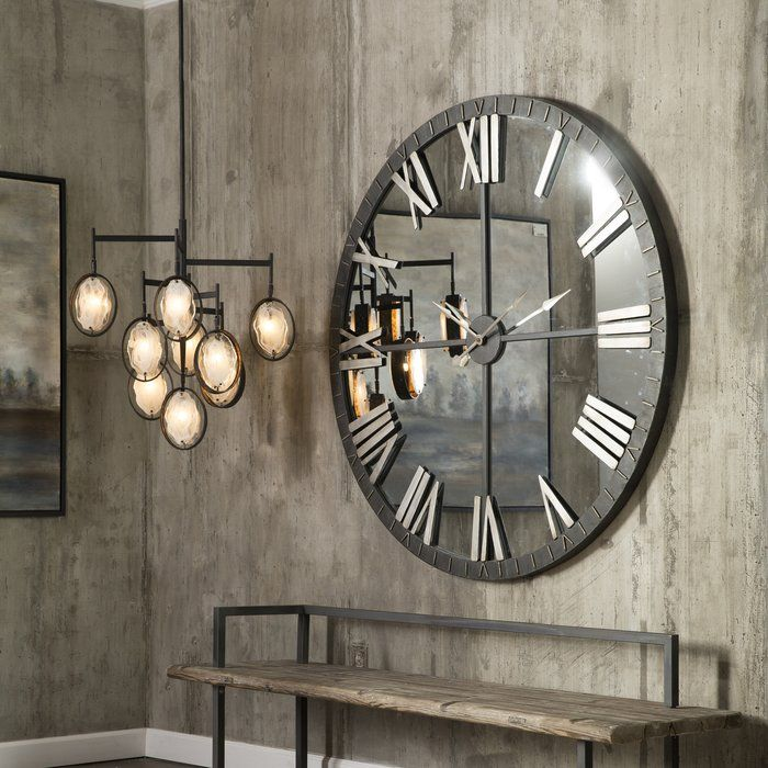 Cartwright 9 Light Unique Statement Tiered Chandelier With Images Big Wall Clocks Large Round Wall Clock Large Wall Clock