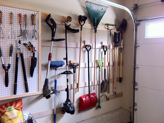 French Cleat Storage System For An Organized Garage