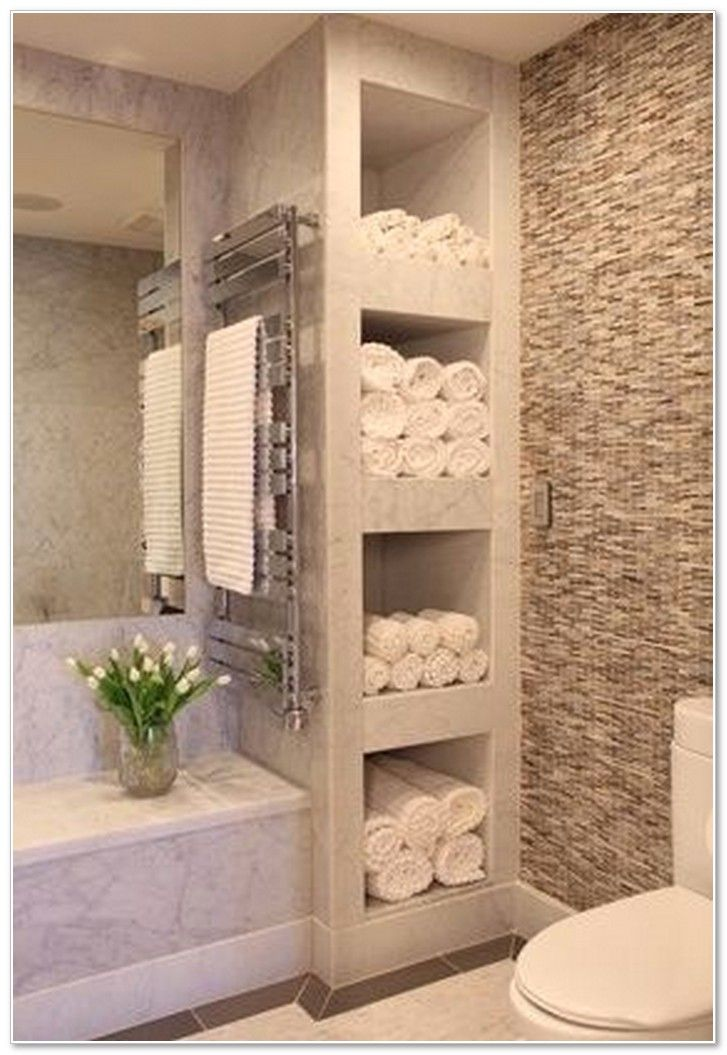 Bathroom with Shelves for Towels – Feels Like a Spa!