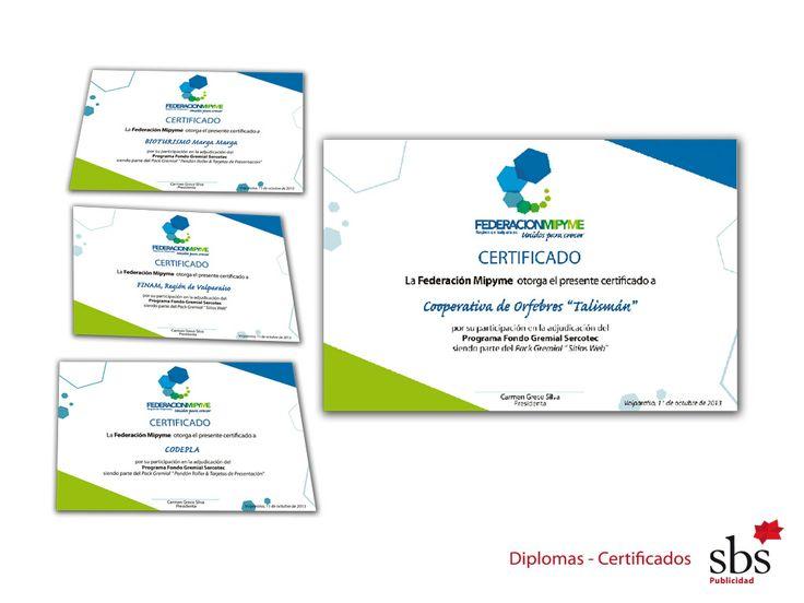 Diplomas y Certificados.