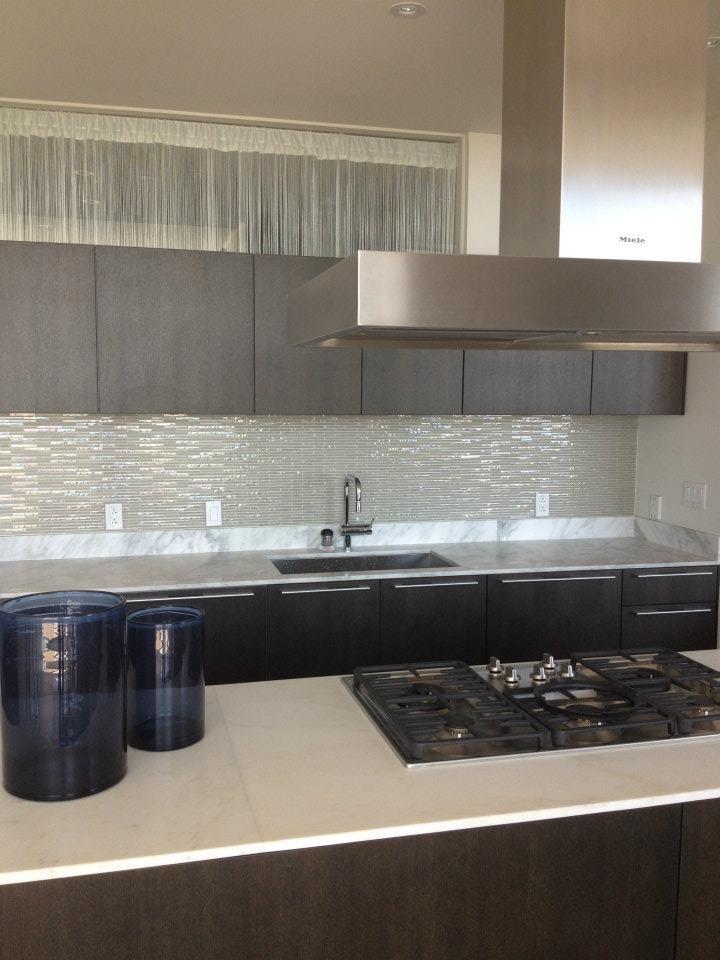 New Backsplash In The Kitchen! Remodel. W Hotel Condo. Austin, Texas.