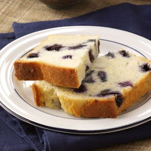 Lemon-Blueberry Tea Bread Recipe from Taste of Home -- shared by Wendy Masters, Grand Valley, Ontario
