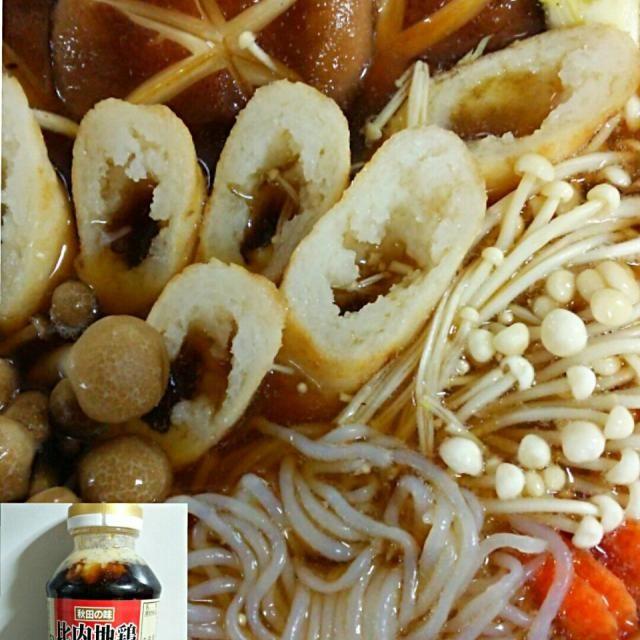 マイちゃんから貰った きりたんぽとスープで お鍋を作ってみました。 秋田の比内地鶏がらスープを使用。 きりたんぽ♥  こんな触感だったね 糸こんも入れる 聞いてたので入れましたよ。 博多骨付き ぶつ切り鶏肉、生椎茸  類に 白菜、ネギ、お出汁が 博多のお雑煮に似てます とても  美味しくいただき。  マイちゃん  秋田名物  きりたんぽをありがとう (^ー゜)ノ - 151件のもぐもぐ - きりたんぽ鍋 煮込みちう☆ by yblueadidas103