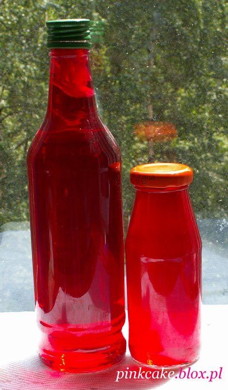 nalewka różana i syrop z płatków róży