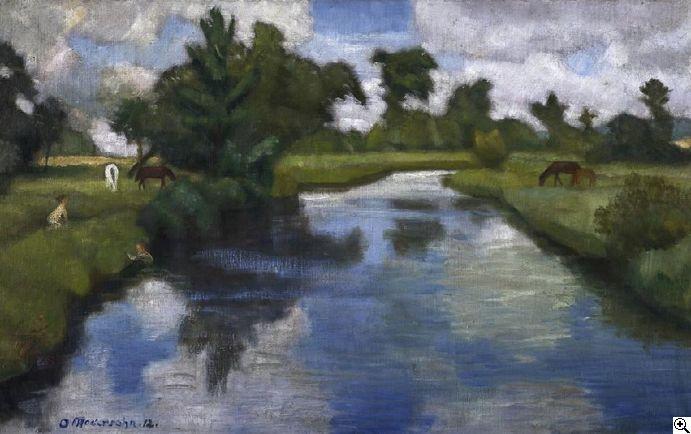 Otto Modersohn: Sommertag an der Wümme aus unserer Rubrik: Moderne Gemälde, Zeichnungen, Aquarelle