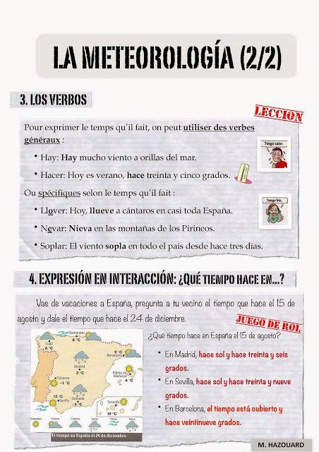CLASE DE ESPAÑOL meteolorologia 2 #learn #spanish #kids
