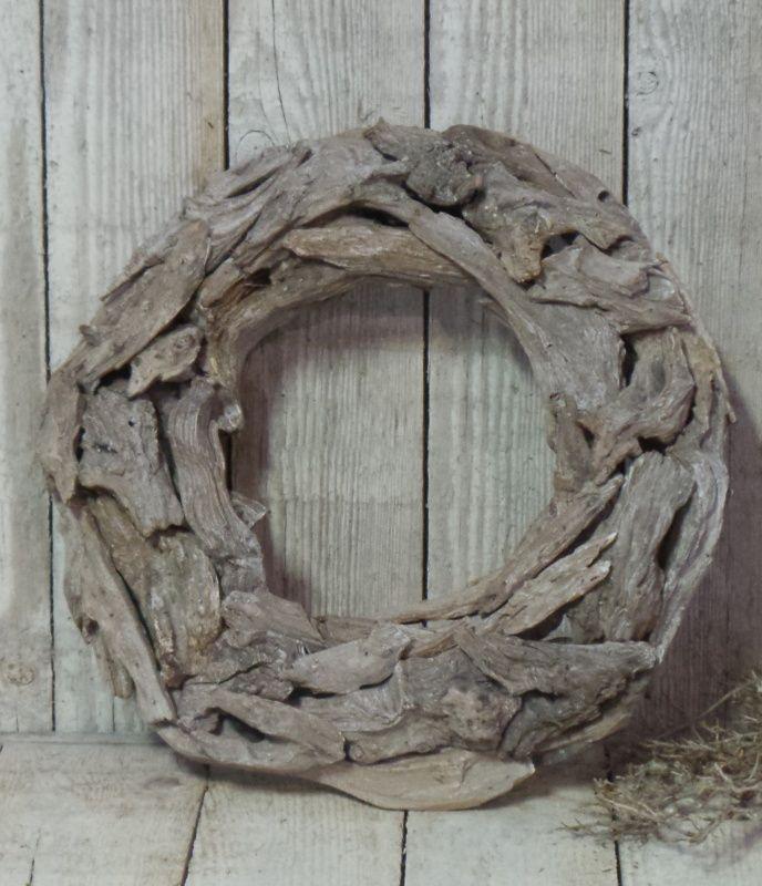 Platte houten krans