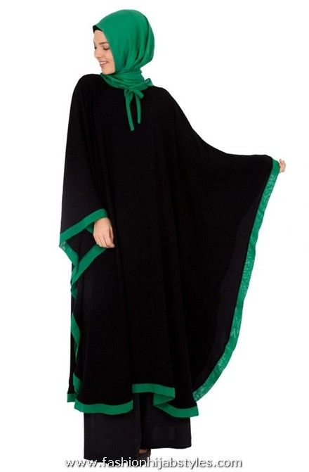 Abaya with green | Islamic Hijab Abaya For Muslim Women green banded abaya – New ...