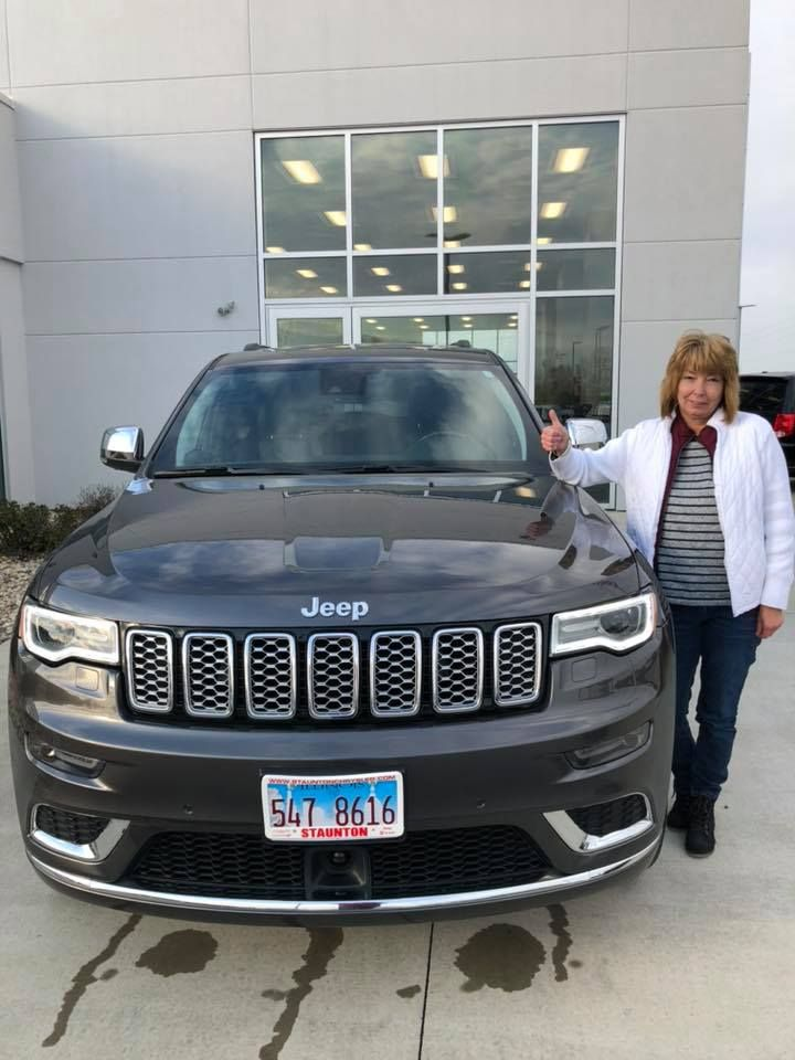 Congratulations Sherri Enjoy Your Jeep Grand Cherokee Drive Safe And Thank You From Cloide And Everyone At Staunton Chrysle Jeep Chrysler Chrysler Dodge Jeep