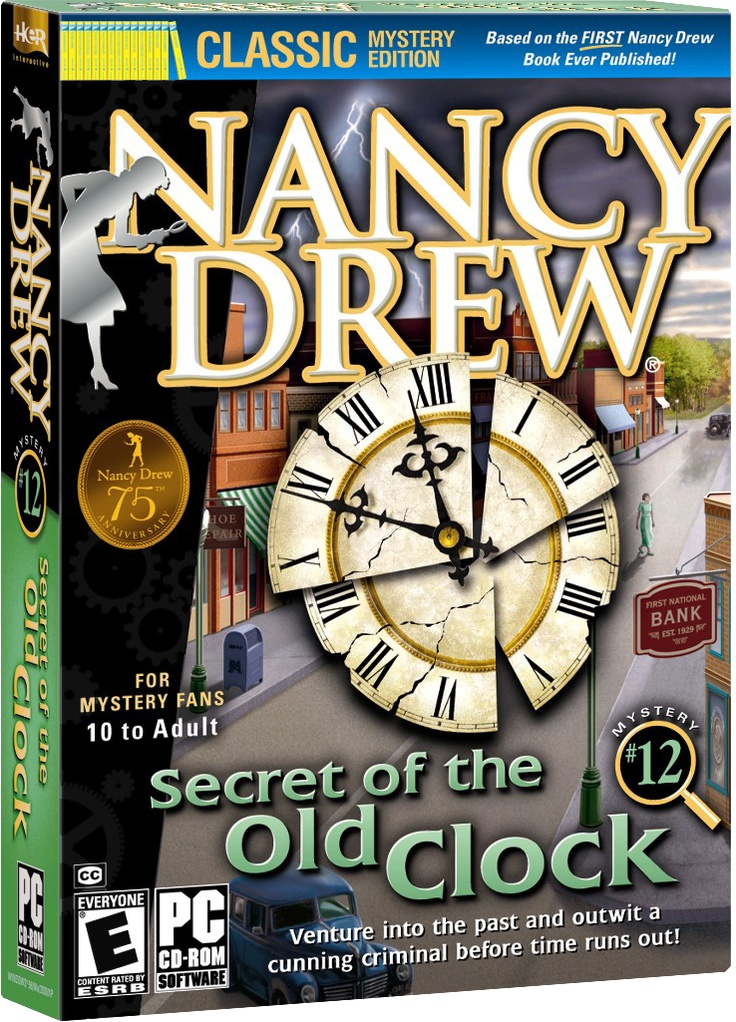 Nancy Drew: Secret of the Old Clock computer game. Venture into the Past and Outwit a Criminal Before Time Runs Out! http://www.herinteractive.com/Mystery_Games/Nancy_Drew/Secret_of_the_Old_Clock/pc