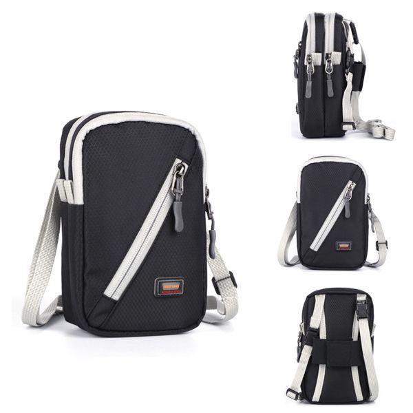 Sale 29% (11.86$) - Waterproof Nylon Crossbody Bag Outdoor Sports Shoulder Bag For Man