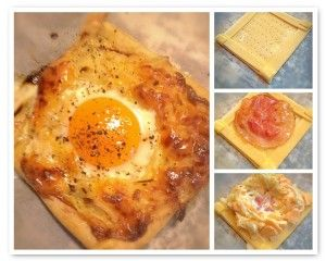 Recept hartig ontbijt met bladerdeeg en ei. Simpel en makkelijk recept. Leuk voor een uitgebreid ontbijt, brunch of lunch. Weinig moeite en groots effect.