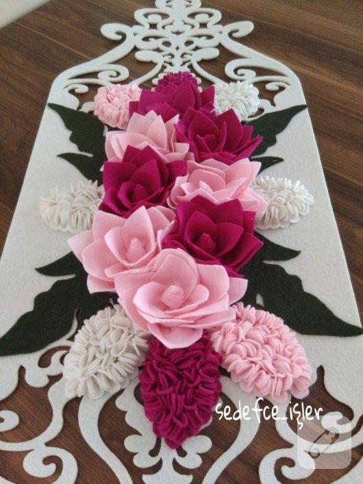 Pembe çiçekli runner örneği