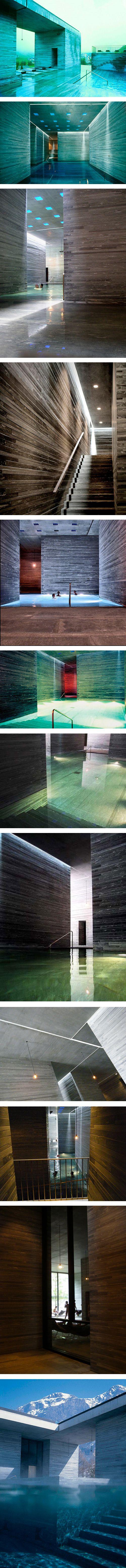 Hot Springs in Vals (Switzerland) by Pritzker Award Winner 2009 Peter Zumthor.