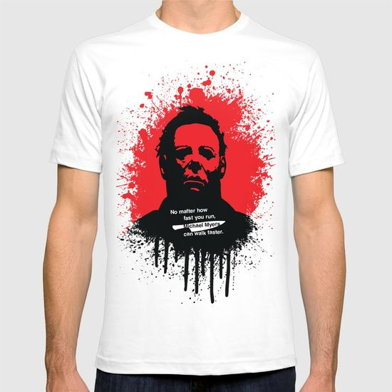 Halloween T-shirt by Fimbis        Michael Myers, horror, art, scary movies, illustration, blood, movie poster, dark, tees, t-shirt, apparel,
