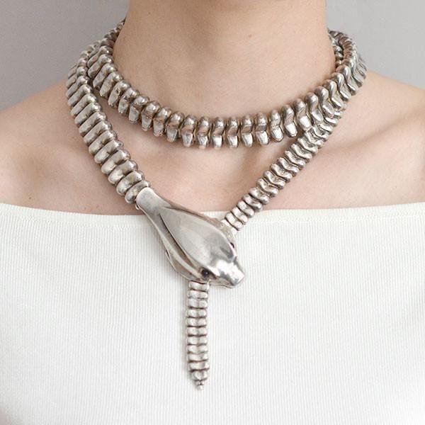 TIFFANY ELSA PERETTI Rare Sterling Snake Neck/Belt