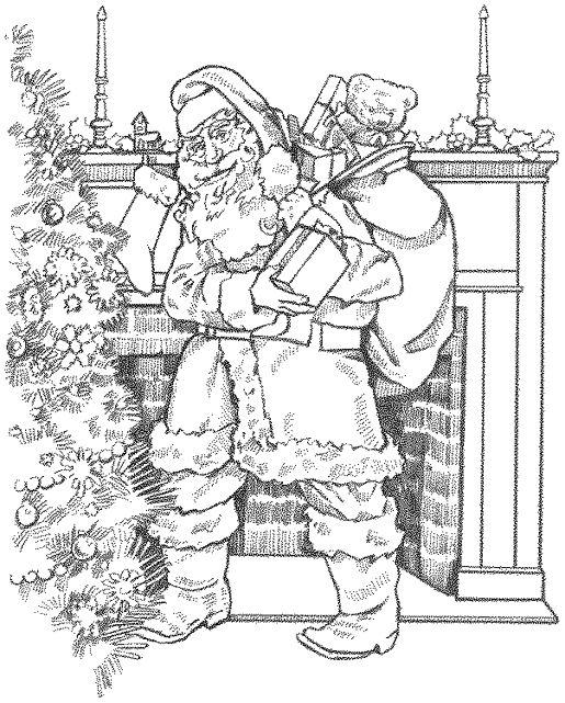 Santa Coloring Book Christmas Coloring Book Wallpaper