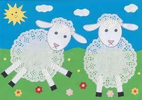 Sheep Doily Craft