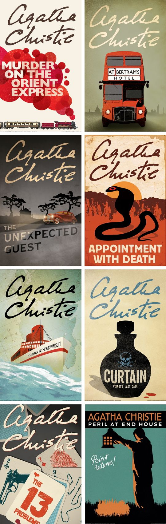 Agatha Christie - Love these wonderful vintage covers.