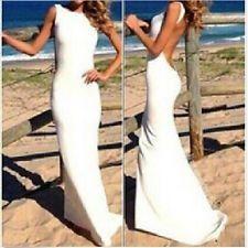 Vestido largo plata