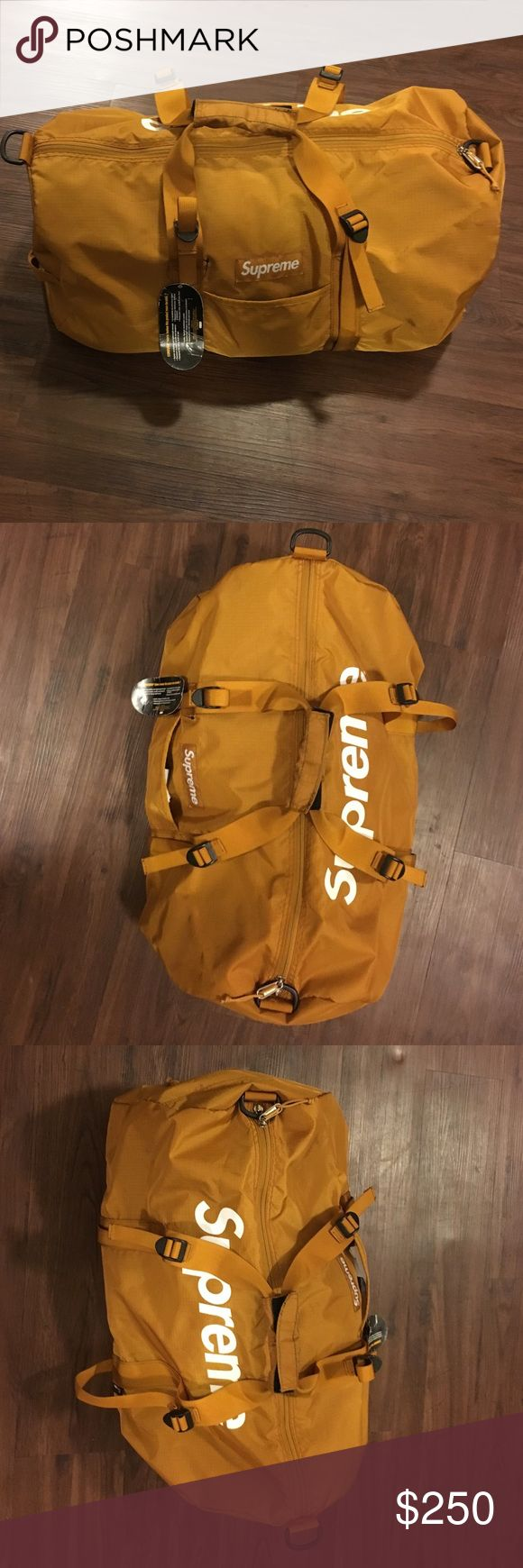 Supreme Duffle Bag Gold Supreme Duffle Bag Brand New Unused. Great gift for someone Supreme Bags Travel Bags