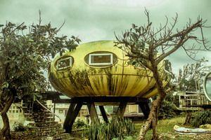 Wanli UFO Village in New Taipei City Taiwan