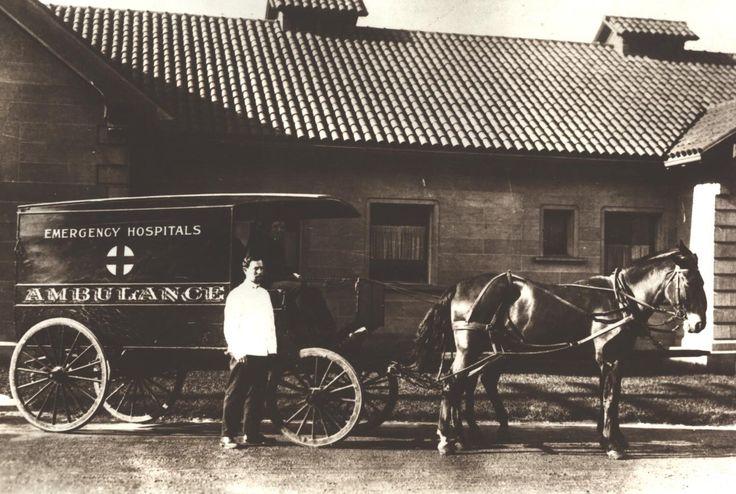 Ambulance at park emergency hospital golden gate park