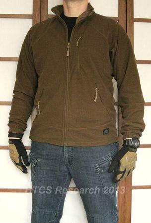 Helikon Tex Alpha Grid Fleece Jacket Coyote Brown Gear
