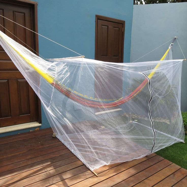 Sunnydaze Extra Large Hammock Mosquito Net 78 Inch Long X 36 Inch Wide,  White (