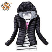 2015 Jesień Zima Kobiety Podstawowe Sport Jacket Coat Kobieta Slim Kurtki z kapturem Marka Bawełna Casual Czarne Kurtki (Chiny (kontynentalne))