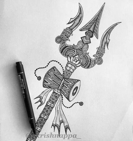 Trishul damru Shiva
