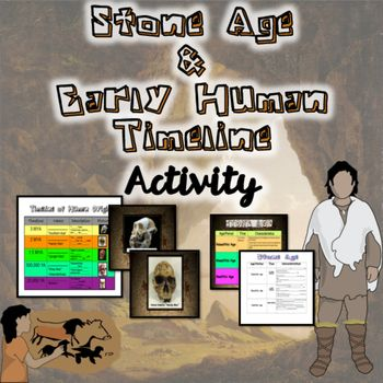 This is a GREAT activity to use within your study of Early Man!  It includes an activity that explains to students the Stone Age, and then chronologically goes through the early human timeline from Australopithecus to Homo Sapien Sapien.
