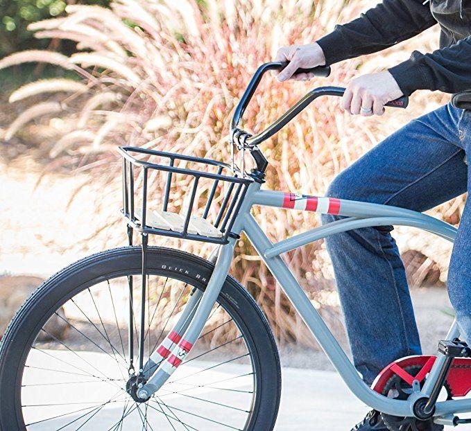 Bell Tote Series Bicycle Baskets Black w Wood Front Metal Bike Basket Handlebar