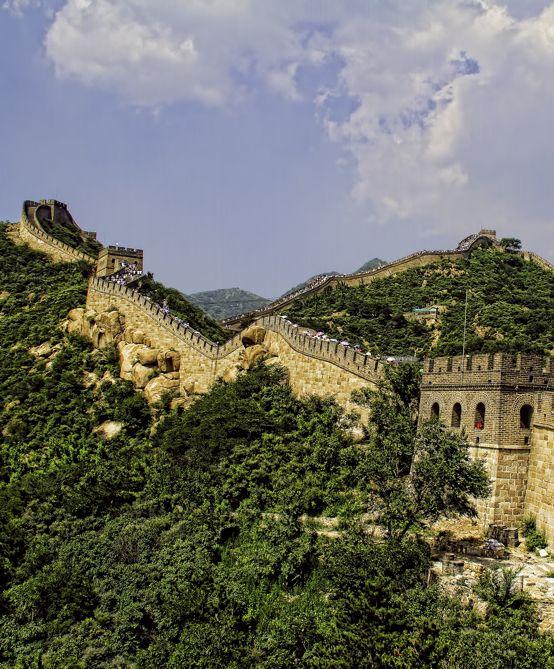 The Great Wall north of Beijing at Badaling.