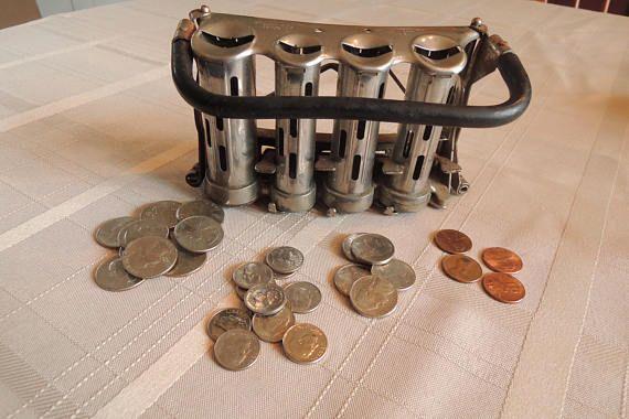 Coin changer Coin keeper Push button coin drop Money