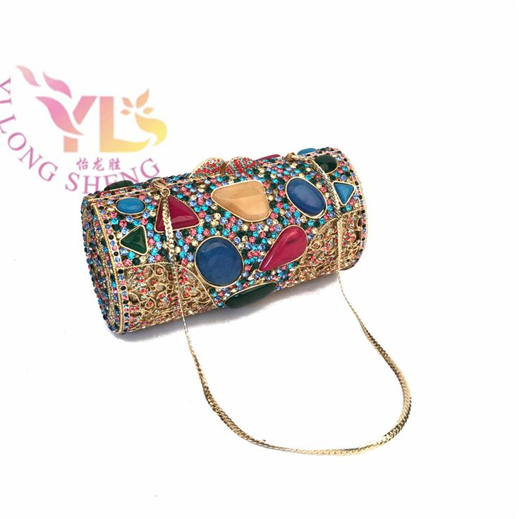 Clutch Evening Bags Two Colors Women Luxury Handmade Diamonds Clutches Evening Bags