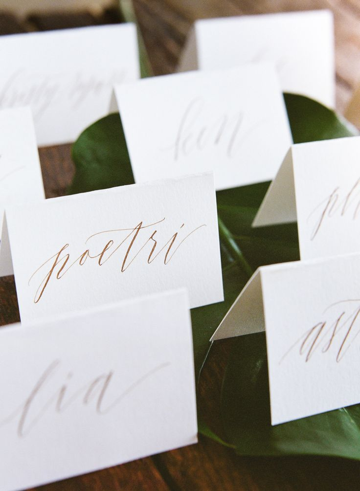 how to put guest names on wedding invitations%0A Romantic   Elegant Bali Wedding  Table Name CardsTable