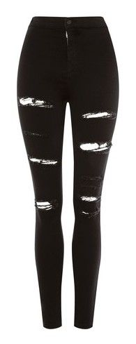 """""""Black ripped skinny jeans #8"""" by cramptonem ❤ liked on Polyvore featuring jeans, pants, bottoms, pantalones, black, ripped jeans, high-waisted skinny jeans, high waisted jeans, distressed skinny jeans and high waisted ripped jeans"""