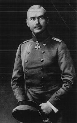 Generalleutnant Otto Liman von Sanders (February 17, 1855 – August 22, 1929) was a German general who served as adviser and military commander for the Ottoman Empire during World War I.  In 1918, the last year of the war, Liman von Sanders took over command of the Ottoman army during the Sinai and Palestine Campaign, replacing the German General Erich von Falkenhayn who had been defeated by British General Allenby at the end of 1917.