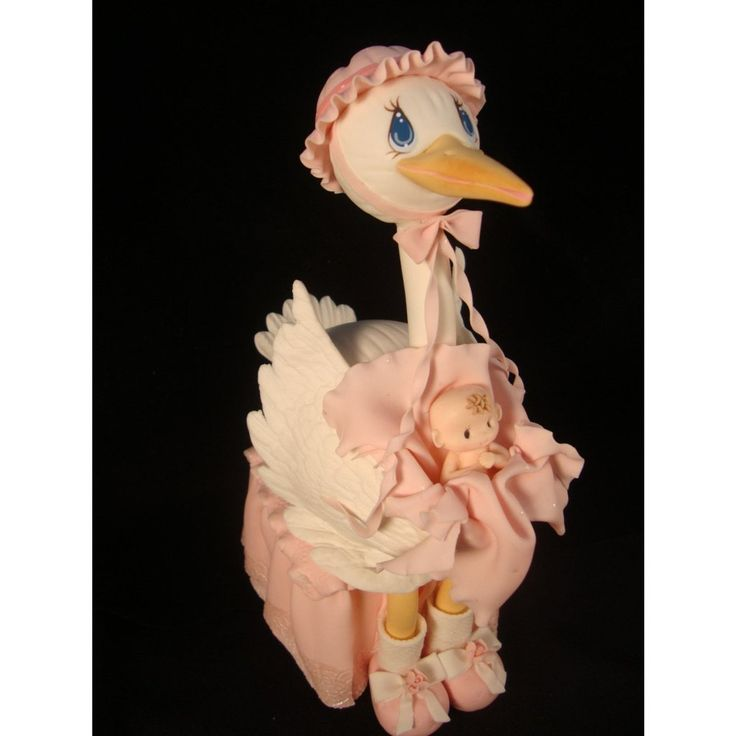 Storks Cake Topper, Baby Shower Storks, Mommy Stork Cake Decorations in Pink, Blue or Yellow