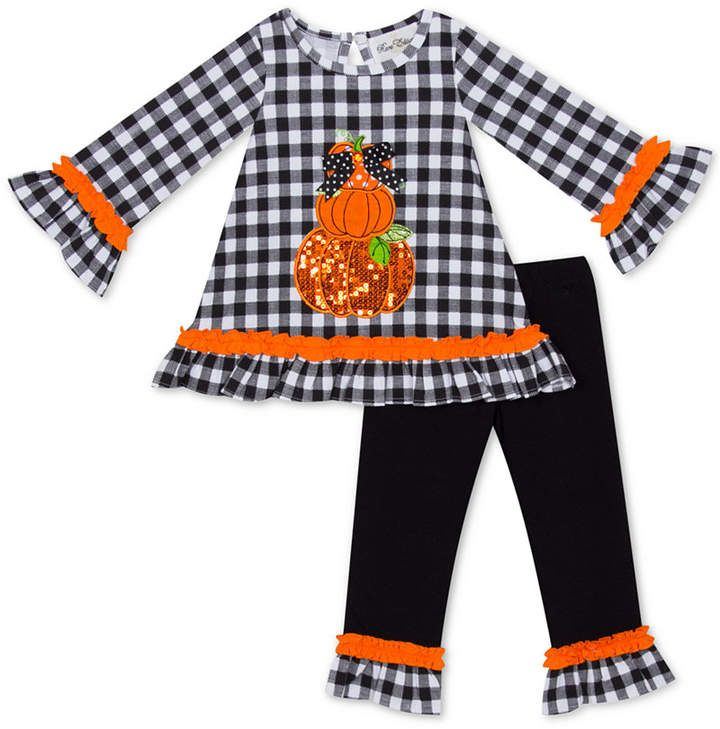 Rare Editions Toddler Girls Thankful Pumpkin Tutu Dress /& Legging Set-Size-3T 4T
