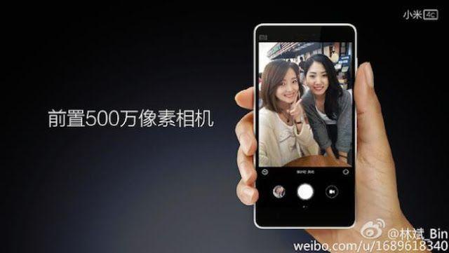 Presiden Xiaomi menujukan perbandingan kamera depan Xiaomi MI 4c dengan iPhone 6