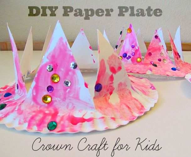 An easy DIY crown craft for toddlers and preschoolers! These crowns are easy to make and have endless ways to decorate and play with them!