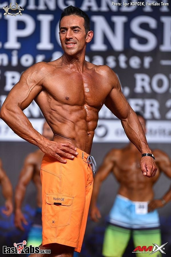 Bellodi Carlo, master men's physique over 40, world championship 2017, 7th place 😒, IFBB.