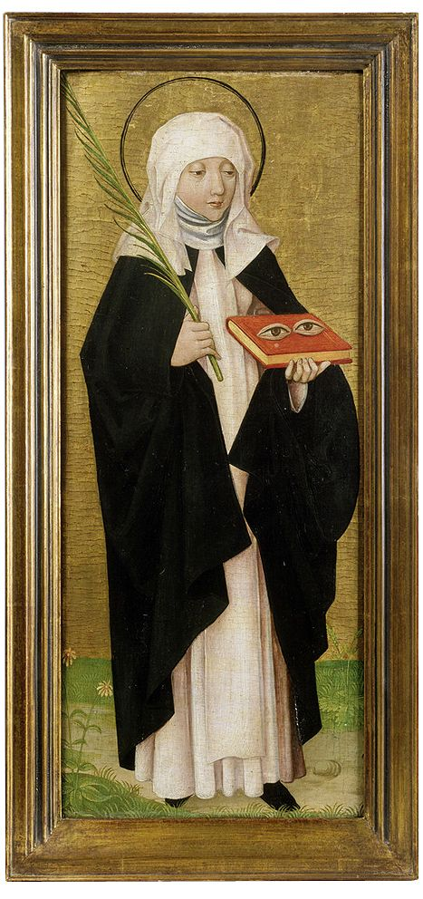 Saint Odilia of Hohenburg (Odile of Alsace) // 1480 – 1490 // Franconian (Master of the Pink?) // Wallraf-Richartz-Museum